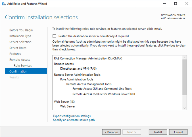 Finish the installation and open the configuration wizard