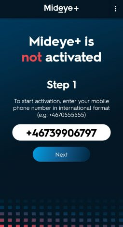 Enter a phone number in international format