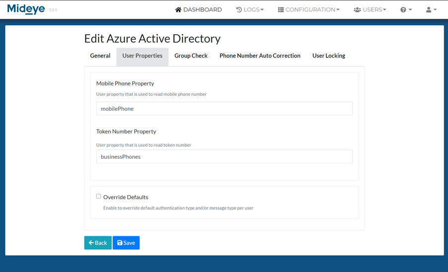 Select that property to be used from Azure AD to read mobile phone and tokennumber.